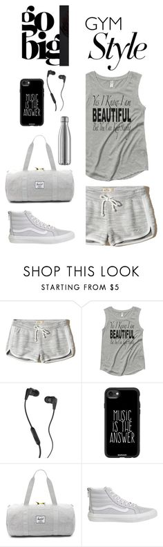 """Untitled #15"" by saghar1 ❤ liked on Polyvore featuring Hollister Co., Skullcandy, Casetify, Herschel Supply Co. and Vans"