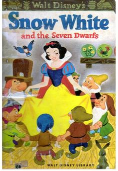 "Snow White and the Seven Dwarfs, Illustrations by Campbell Grant, 1952- Cover    ""Snow White and the Seven Dwarfs"", Simon and Schuster, 1952    Story adapted by Jane Warner  Illustrations by Walt Disney Studio, Adapted by Campbell Grant"
