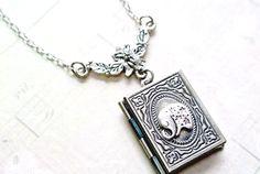 Elephant Necklace Elephant Locket NecklaceBook Locket by iceblues