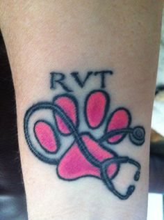 vet tech tattoo--- I'm absolutely in love!!! This is gonna be the next one :)