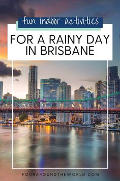 There's nothing worse than a rainy day to spoil a fun day out in Brisbane, so we have put together a mammoth list of fun indoor activities in Brisbane on rainy days. These things to do in Brisbane on a rainy day are perfect for staying dry, while still making the most of your time in the Queensland capital. Brisbane rainy day activities and indoor attractions for the whole family to enjoy. Fun Indoor Activities, Rainy Day Activities, Things To Do In Brisbane, Indoor Attractions, Indoor Play Centre, Indoor Skydiving, Australia Travel Guide, Fun Days Out, Brisbane City