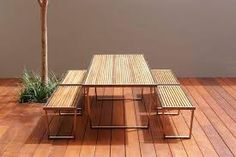 Image result for timber outdoor table