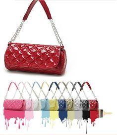 Hot !! Women s Handbag Drum-type Rhombus Chain Bag Plaid Shoulder Messenger  Cross Body · DrumTote BagsBody ... 0d7f12f221c13