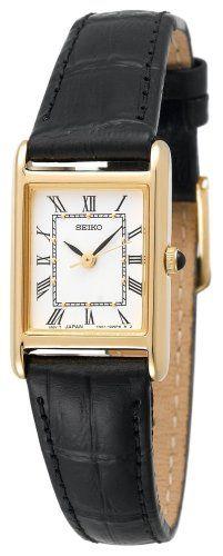 Seiko Women's SXGN42 Black Leather Strap Watch : Cartier | Best Watch Brands - Top 10 Best Watch Brands Review Deals