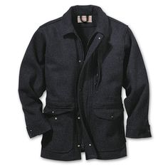 """Filson Yukon Wool Jacket  snap front, brown  Filson's 24 oz. Mackinaw wool designed with a new softer touch in the Yukon Wool Jacket    """"FILSON - Might as well have the BEST!"""""""