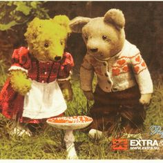 https://flic.kr/p/FoKyXw | Postcrossing RU-614445 | Cute postcard with teddy bears sent by a Postcrossing member in Russia.  The person who sent this told me that this is an advertisement for a clothing store that is no longer around.  I originally posted this in February, 2012, but am posting it again because it has been popular on Tumblr recently.
