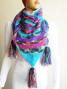Colorful Triangle Shawl Chunky Knit Shawl Shawl Shrug #Booties #Homeslippers  #yoga #socks #shoes #babet #Slippers #balletflats #pilates #yogasocks #glove #Fingerless #hoodscarf #wintergloves #fallfingerless #funnyfingerless  #knitscarf #longscarf #ChunkyScarf #collarscarf  #scarflette #Shawl #Shoulder #Neck Scarf #InfinityScarf #Neckwarmer #NoodleScarves #loopscarf