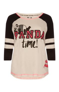 Primark - Pete Panda Varsity PJ Top