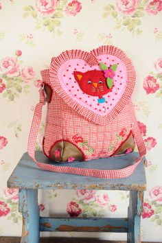 Small Kitty bag red by GeK and like OMG! get some yourself some pawtastic adorable cat apparel!