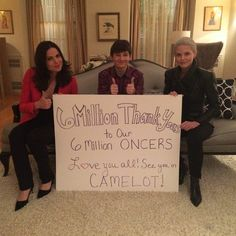 WOW 6 million #Oncers on facebook   #OnceUponATime #OutlawQueen #OutlawQueen #CaptainSwan #Snowing @/OnceABC
