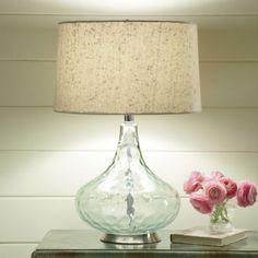 Aqua Glass Lamp for Living Room - www.countrydoor.com