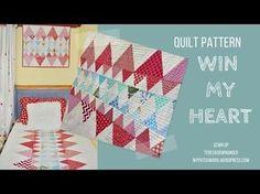 Quilt pattern: Win my heart - easy confident beginner pattern - YouTube