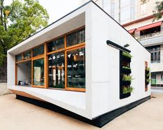 Australia's first carbon-positive prefab house produces more energy than it consumes Carbon Positive House by ArchiBlox – Inhabitat - Sustainable Design Innovation, Eco Architecture, Green Building Green Architecture, Sustainable Architecture, Sustainable Design, Architecture Design, Australian Architecture, Residential Architecture, Sustainable Living, Contemporary Architecture, Sustainable Houses