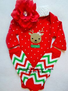 My First Christmas outfit baby girl dress up leg by Ready2ShipShop