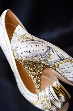 If you want to show some personality with your wedding footwear, you will love Figgie Shoes.