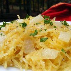 Spaghetti Squash Saute Allrecipes.com. Dr. Oz friendly 2 week rapid diet plan:)