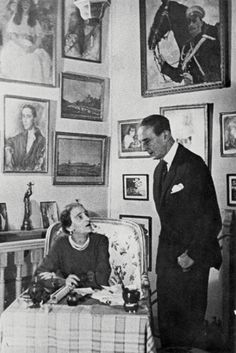 Princess Irina and Prince Felix in 1965 in their Paris home http://www.tg-m.ru/