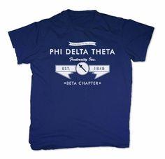 Phi Delta Theta Screen Printed T-Shirt Design #14 SALE $16.95. - Greek Clothing and Merchandise - Greek Gear®