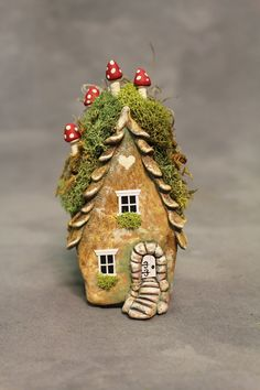 Forest Cottage Fairy Willow Spirit House OOAK 4 1/2 by FairyWillow