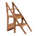 Fold over ladder chair! extra seating in living room, but step-stool to get to storage loft!