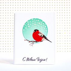 Clean and Simple winter card with Cherrylana Designs stamps