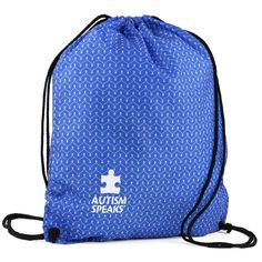 Autism Speaks Chevron Cinch Bag. Every purchase helps to fund the advocacy of AutismSpeaks.