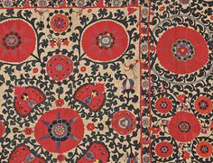 This colorful Central Asian Suzani sold for $60,000 at auction in Boston on May 11, 2013. (Sale 2653B, Lot 118) Skinner Auctioneers
