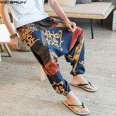 baggy cotton linen harem pants men hip hop women plus size wide leg trousers casual vintage long pants pantalones hombre 2020 Harem Pants Men, Pajama Pants, Hip Hop Women, Compression Pants, Type Of Pants, Loose Pants, Linen Pants, Wide Leg Trousers, Fashion Pants