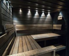 Sauna Steam Room, Sauna Room, Mobile Sauna, Wardrobe Wall, Dry Sauna, Outdoor Sauna, Sauna Design, Finnish Sauna, Spa Rooms