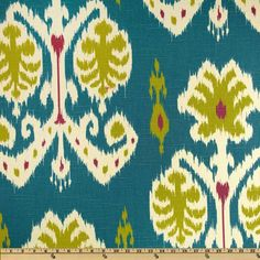 Ikat color scheme: raspberry, teal, chartreuse