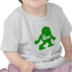 LI'L BIGFOOT Adorable Logo – Cute Green Sasquatch Tee Shirts