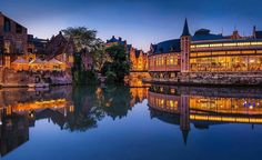 #Repost @onurcepheli ・・・ Magnificent Ghent With a population of 248,739 residents, Ghent is Belgium's second largest city. Back in the 11th century Ghent was the second biggest city in Northern Europe after Paris, with its growth driven by its leadership in cloth production and trading. Today, Ghent is a university city with 65,000 students, more than 25 percent of its population.  #ghent #belgium #gent #europe #architecture #sunset #cityscape #belgique #graslei #reflection #travel…