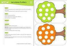image les arbres fruitiers jeu couleur maternelle
