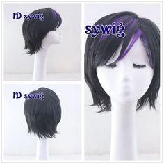 Big Hero 6 Go Go Tomago Cosplay Short Hair Full Wig Black with Purple CC211 | eBay