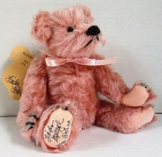 VINTAGE Bearly There Inc. Alice Rose Teddy Bear SIGNED by Linda Spiegel-Lohre #BearlyThereInc
