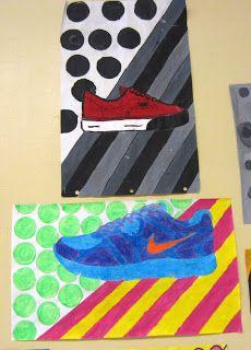 Foot or shoe pop art