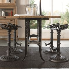 Reinventions Wolf Creek Barstool w/ Metal Swivel Seat by Thomasville®…