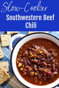 Slow Cooker Chili, Best Slow Cooker, Slow Cooker Recipes, Crockpot Recipes, Healthy Recipes, Chowder Recipes, Chili Recipes, Soup Recipes, Chicken Recipes