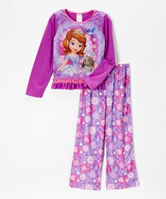 This Purple Floral Sofia the First Pajama Set - Girls by Sofia the First is perfect! #zulilyfinds