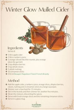 Just because it's #cold outside that doesn't mean you have to be. We've got a mulled cider #recipe for you to #cosy up with.