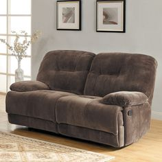 Sofa Covers Felicity Chocolate Champion Microfiber Reclining Loveseat by TRIBECCA HOME by Tribecca Home