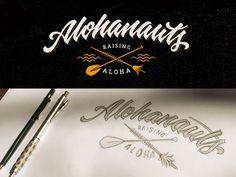 Alohanauts #typo #typography #lettering #handlettering #caligraphy #script #logo