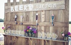 The beer-loving couple can incorporate a Beer Garden into their reception —so cute! | RHM Photography
