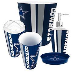 Dallas Cowboys NFL Complete Bathroom Accessories 5pc Set http://www.sportstation.com/Dallas-Cowboys-Complete-Bathroom-Accessories/dp/B00MQ17ZCC