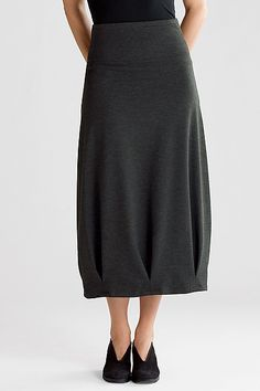 """Cobweb Skirt"" by Katrin Noon Dramatic inverted pleats create sculptural shaping in this soft knit skirt, a flattering go-to piece."