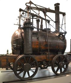 """The Puffing Billy — """"the oldest surviving locomotive in the world."""" William Hedley, designer and builder. 1814."""