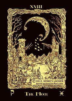 Atu XVIII - The Moon - Azathoth tarot
