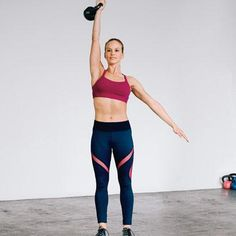 Kettlebell Moves To Burn More Cals | Push Press: Works shoulders, triceps, abs, legs