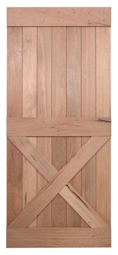 "36"" Walnut Interior Barn Door   Single X   INTERIOR DOORS    Surplus Building Materials   Dallas - Fort Worth"