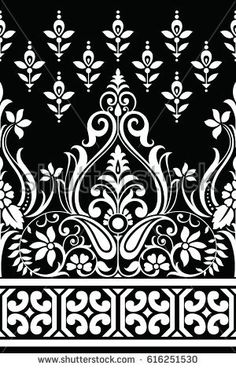 Find Traditional Indian Motif stock images in HD and millions of other royalty-free stock photos, illustrations and vectors in the Shutterstock collection. Indian Embroidery Designs, Folk Embroidery, Learn Embroidery, Embroidery Patterns, Embroidery Stitches, Textile Pattern Design, Motif Design, Border Design, Textile Patterns